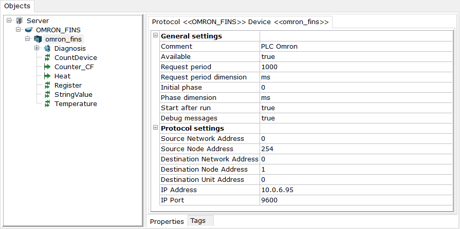OPC Server for Omron Controllers